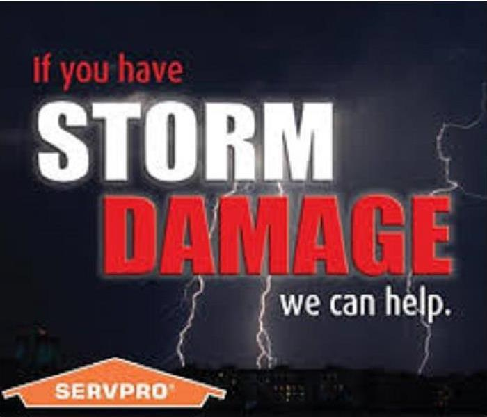 Storm Damage When Storms or Floods Hit Allen, SERVPRO is ready!!